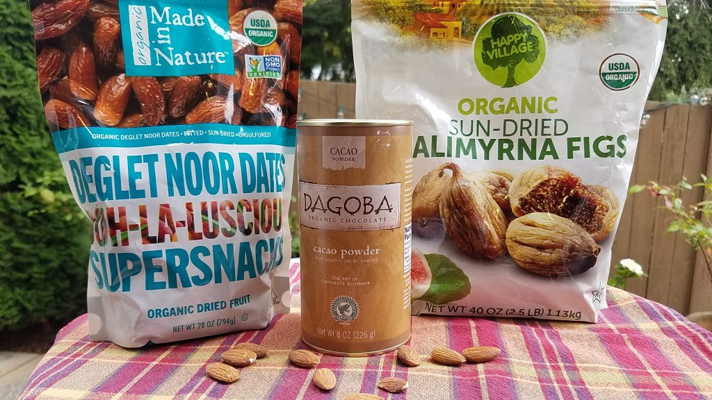 Organic Dates, Figs, Cacao Powder